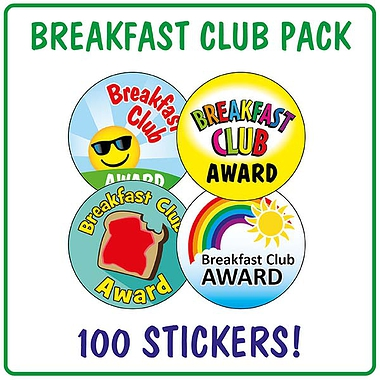 Breakfast Club Stickers (100 Stickers - 32mm)