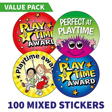 Playtime Award Stickers (100 Stickers - 32mm) Brainwaves