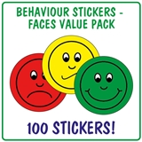 Behaviour Stickers (100 Stickers - 32mm)