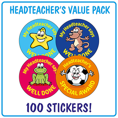 Headteacher's Reward Stickers (100 Stickers - 32mm) Brainwaves