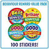 Behaviour Reward Stickers (100 Stickers - 32mm) Brainwaves