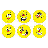 Sheet of 100 Mixed Circular Expression 16mm Stickers