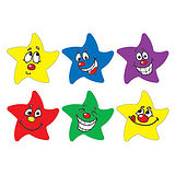Sheet of 100 Mixed Star Shaped Expression 16mm Stickers