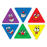 100 Mixed Triangular Expression 18mm x 20mm Stickers