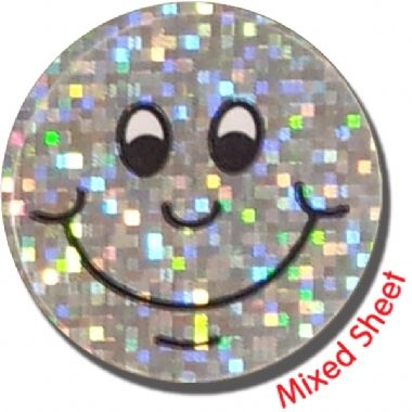 Holographic Expression Stickers - Face (100 Stickers - 16mm)