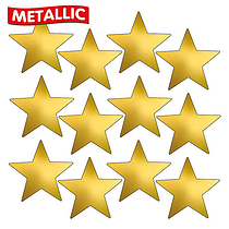 Sheet of 140 Gold Metallic 18mm Star Stickers