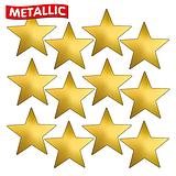 Sheet of 140 Gold Metallic 18mm Star Stickers