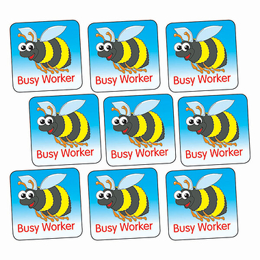 Sheet of 140 Busy Worker 16mm Square Stickers