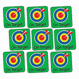 Sheet of 140 On Target 16mm Square Stickers