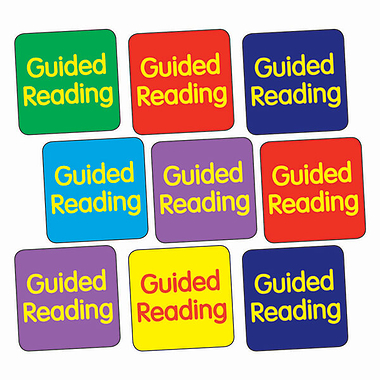 Sheet of 140 Mixed Guided Reading 16mm Square Stickers