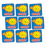 Great Sun Stickers (140 Stickers - 16mm)