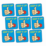 Sheet of 140 Keep It Up Thumb 16mm Square Stickers
