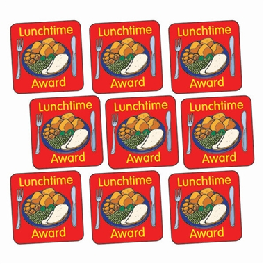 Lunchtime Award Stickers (140 Stickers - 16mm)