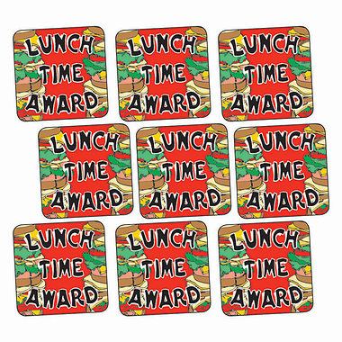 Sheet of 140 Lunchtime Award Sandwiches16mm Square Stickers