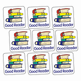 Sheet of 140 Good Reader Book 16mm Square Stickers