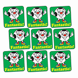 Sheet of 140 Fantastic Football 16mm Square Stickers