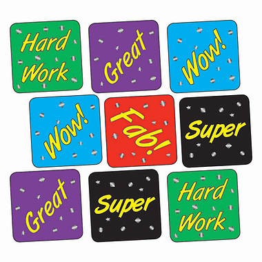 Metallic Stickers - Postive Phrases (140 Stickers - 16mm)
