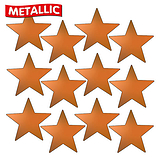 Sheet of 140 Bronze Metallic 18mm Star Stickers