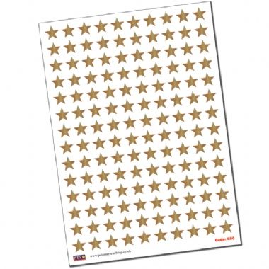Metallic Bronze Star Stickers (140 Stickers - 18mm)
