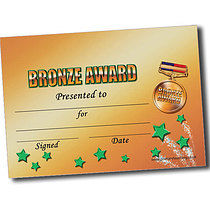Personalised A5 Bronze Award Certificates