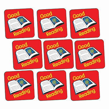 Sheet of 140 Good Reading Book 16mm Square Stickers