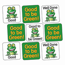 Sheet of 140 Mixed Good to be Green 16mm Square Stickers