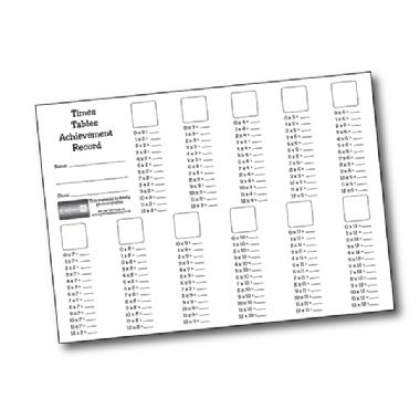 Times Table Stickers (140 Stickers - 16mm)