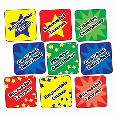 Curriculum for Excellence Stickers (140 Stickers - 16mm)