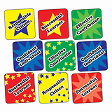 Sheet of 140 Mixed Curriculum 16mm Square Stickers