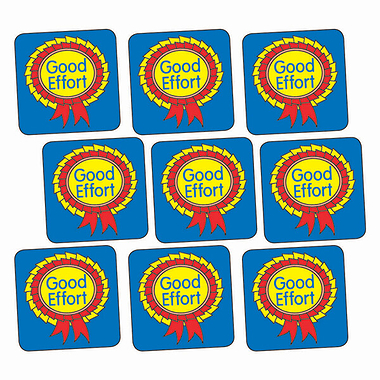 Sheet of 140 Good Effort Rosette 16mm Square Stickers