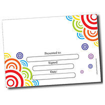 Personalised A5 Coloured Circles Certificates