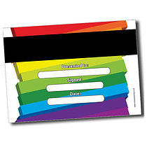 Personalised A5 Rainbow Blocks Certificates