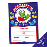 Pack of 20 Super Reader Billy Bookworm Certificates