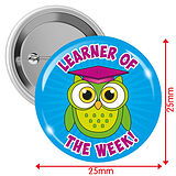 Learner of the Week Owl Badges - Blue (10 Badges - 25mm)