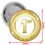 1st Badges - Gold (10 Badges - 38mm)