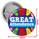 GREAT Attendance Badges - Blue (10 Badges - 38mm)