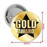 Gold Award Badges (10 Badges - 38mm)