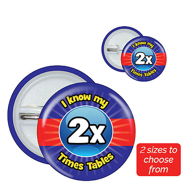 Two Times Tables Badges (10 Badges)