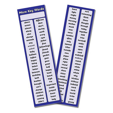 Pack of 30 More High Frequency Key Words Bookmarks