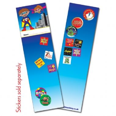 Superhero Bookmarks (30 Bookmarks - 60mm x 210mm)