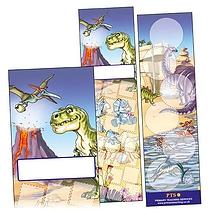 Dinosaur Scene Bookmarks (30 Bookmarks - 60mm x 210mm)