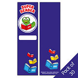 Super Reader Bookmarks (30 Bookmarks - 60mm x 210mm)