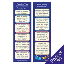 'Reading Tips' Bookmarks (Pack of 30)