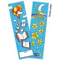 Stuck on a Word Bookmarks - Hot Air Balloon (30 Bookmarks)