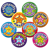 Headteacher's Award Badges - Maxipack (40 Badges - 38mm) Brainwaves