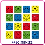 Smiles Value Pack (4480 Stickers - 16mm Square)