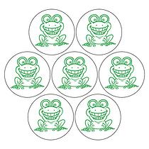 Frog Circular 20mm stickers x 35