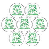 Mini Sheet of 35 Frogs 20mm Circular Stickers