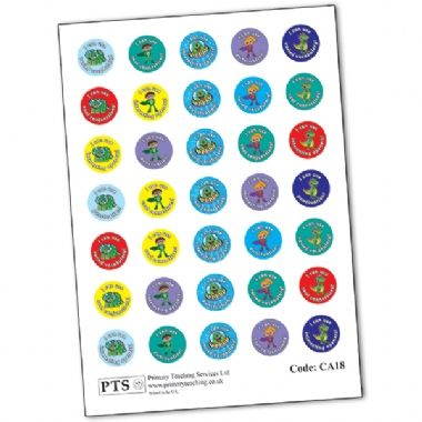 Mini Sheet of 35 Mixed VCOP 20mm Circular Stickers