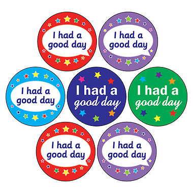 Mini Sheet of 35 I Had a Good Day 20mm Circular Stickers